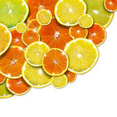 Orange and Lemon Background — Stock Photo