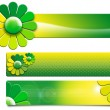 Green Flowers Banners — Stock Photo #9595985