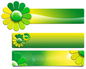 Green Flowers Banners — Stock Photo