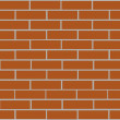 Stock Vector: Brick wall