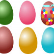 """Easter eggs"" — Stock Vector"