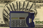 """calculator on the dollar"" — Stock Photo"