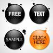 Web Buttons Templates — Stock Vector