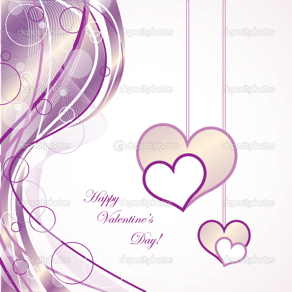 Elegant Valentine's Day Card — Stock Vector #8416018