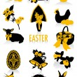 Easter silhouettes — Stock Vector #9638091