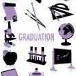 Royalty-Free Stock Vector Image: Graduation silhouettes
