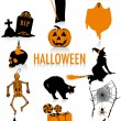 Halloween silhouettes — Stock Vector #9638095