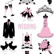 Royalty-Free Stock Vector Image: Wedding silhouettes