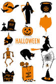 Halloween silhouettes — Stock Vector