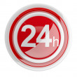 24 hours. 3D icon isolated on white — Stock Photo
