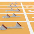 Starting blocks in track and field. 3D model — Stock Photo