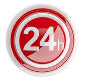 24 ore. icona 3d isolato su bianco — Foto Stock