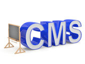 CMS sign. Programming education concept — Stock Photo
