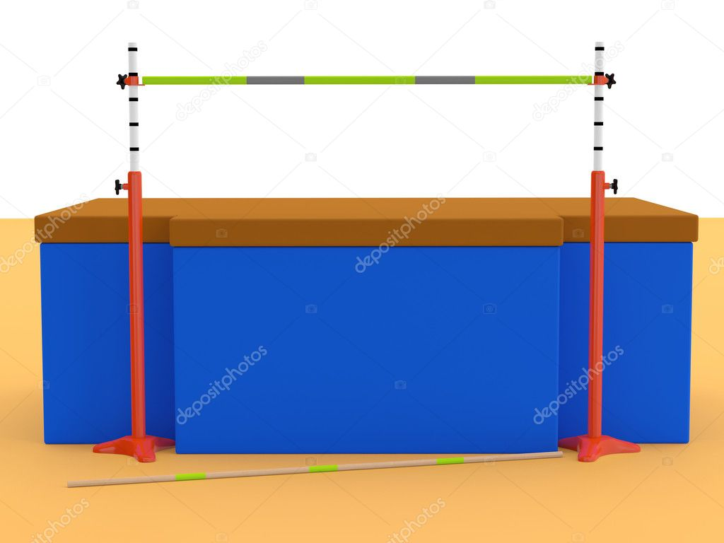 High jumps. Track and field. 3D sports equipment — Stock Photo #8273882