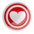 Heart button. 3d model isolated on white — Stock Photo #8356771