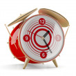 Stock Photo: Alarm clock isolated on white background. 3D model