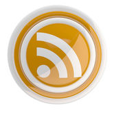 RSS icon. 3D model — Stock Photo
