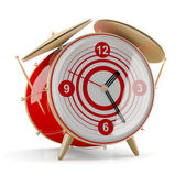 Alarm clock isolated on white background. 3D model — Stock Photo