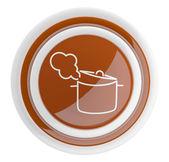 Icono de la bandeja. botón 3d cocina aislado en blanco — Foto de Stock