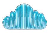 Blue cloud. 3D icon isolated on white — Stock Photo