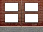 墙体广告空白广告牌。3d 插图 — 图库照片