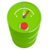 Fuel gauge icon on barrel. 3D model — Stock Photo