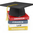 Graduation cap on books. Education concept — Stock Photo #8867711
