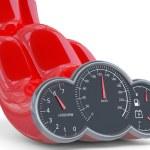 Speedometer. 3D model — Stock Photo