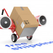 Royalty-Free Stock Photo: Free shipping concept. Hand truck and carboard boxes.
