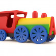 Toy train. 3D model isolated on white background — Стоковая фотография
