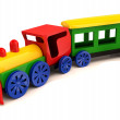 Toy train. 3D model isolated on the white background - Stock Photo