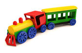 Toy train. 3D model isolated on the white background — Stok fotoğraf