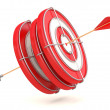 Success concept. Target. 3D model — Stock Photo