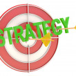 Stock Photo: Strategy concept. Dartboard with arrows. 3D model
