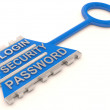 Security key. Business element. 3D model — Stock Photo