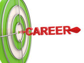 Career concept. Dartboard and arrow — Stock Photo