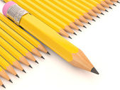 Pencil collection. 3D creative template — 图库照片