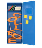 College locker with books. 3D model — Stock Photo