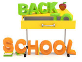Back to school . 3D background — Stockfoto