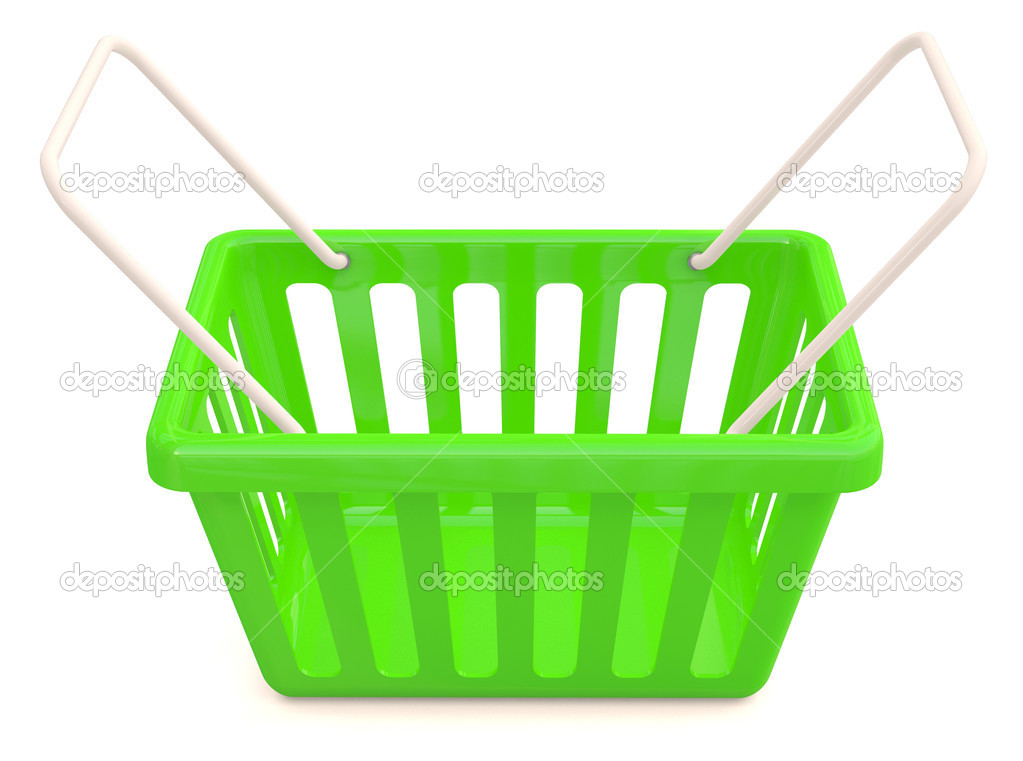 Shopping basket. 3D model — Stock Photo #9336337
