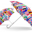 Travel umbrella. 3D model - Stock Photo
