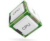 Computer processor. 3D model — Stock Photo