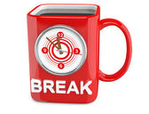 Coffee break cup. 3D model isolated on white — Stock Photo