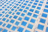 Tile mosaic Earthenware local material — Stock Photo