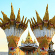 Temple of thailand in sea — Stock Photo #10399843
