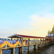 Temple of thailand in sea — Stock Photo