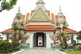 Inner yard of Wat Arun temple in Bangkok, Thailand — Stock Photo
