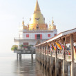 Temple of thailand in sea — Stock Photo #9733195