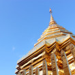 Buddhist church roof - Stock Photo