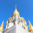 Great white pagoda on the top of hill,Chiang Rai Thailand — Stock Photo